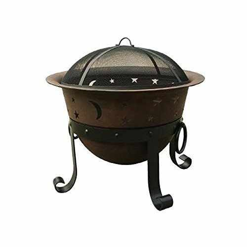 Catalina Creations Heavy Duty Cast Iron Fire Pit with ...